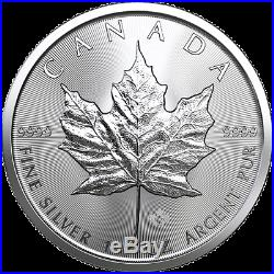 100 oz 100 x 1 oz 2019 Silver Maple Leaf Coin RCM. 9999 Ag