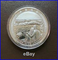 10 oz 2017 Canadian The Great Niagara Falls. 9999 Silver $50 Coin BU in Capsule
