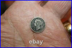 1865 NEWFOUNDLAND SILVER 5 CENT COIN lot 150 CIRCULATED