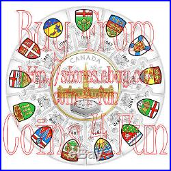 1867-2017 Canada 150 $310 Pure Silver 14-piece Confederation Puzzle Coin
