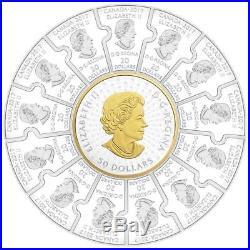 1867-2017 Canada 150 Confederation $310 1/2-Kilo PURE SILVER PROOF PUZZLE Coin