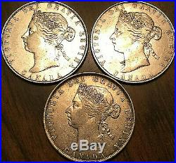 1870 1871 1872 CANADA SILVER 50 CENTS Very nice coins Not junk Worth a Look