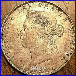 1872H CANADA SILVER 50 CENTS COIN Dp S in CENTS Excellent example