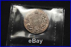 1881-H Canada Silver 50 Cent AU-55 ICCS High end Queen Victoria Rare Coin
