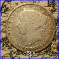 1885 NEWFOUNDLAND CANADA SILVER 10 CENT COIN lot 151 KEY DATE