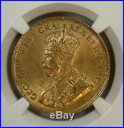 1912 Canada $10 Gold Coin NGC Graded MS 63