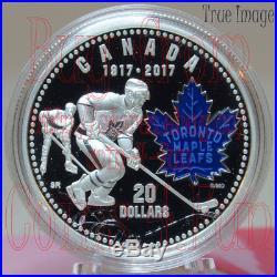 1917-2017 100th Anniversary Toronto Maple Leafs $20 Pure Silver Coin Blue Enamel