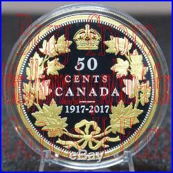 1917-2017 Canada Masters Club Half-Dollar Anniversary 50-cent Pure Silver Coin