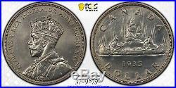 1935 Canada 1 Dollar Silver Coin One Dollar PCGS Specimen SP-63 Ex. Norweb