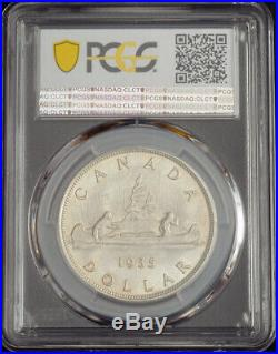 1935, Canada, George V. Silver Jubilee / Voyageur Dollar Coin. PCGS MS-64
