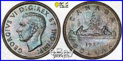 1937 Canada 1 Dollar Silver Coin One Dollar PCGS Specimen SP-66