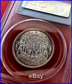 1937 Canada Silver Half Dollar 50 Cent Coin Matte Specimen PCGS SP-66
