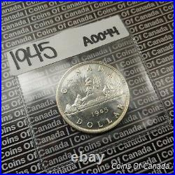 1945 Canada $1 Silver Dollar UNCIRCULATED Coin Great Eye Appeal #coinsofcanada