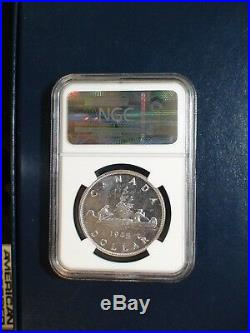 1945 Canada Silver Dollar NGC MS62 BETTER KEY DATE $1 COIN BUY IT NOW