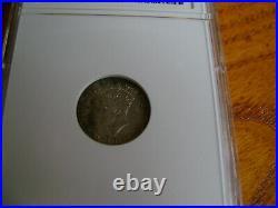 1946-C 5 Cent Canada New Foundland Rare Silver coin Anacs AU 50