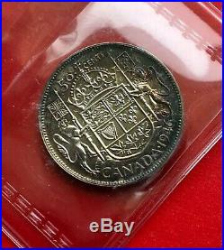 1946 Canada Silver Half Dollar 50 Cent Coin Specimen ICCS SP-60 OGH RARE