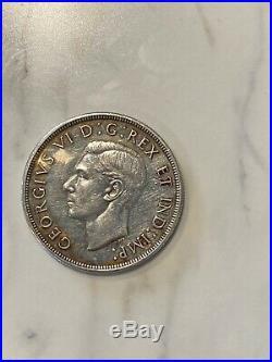1947 Dot Canada Silver Dollar! Nice Key Date Coin