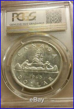 1948 Canada 1 Dollar Silver Coin One Dollar Key Date PCGS UNC Detail