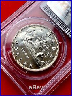 1948 Canada 1 Dollar Silver Coin One Dollar Specimen PCGS SP-62 RARE