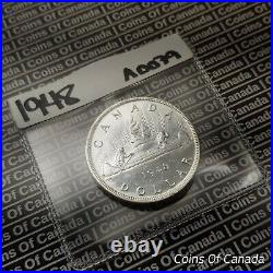 1948 Canada $1 Silver Dollar UNCIRCULATED Coin Great Eye Appeal #coinsofcanada
