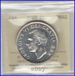 1948 Canada One Silver Dollar Coin ICCS Graded MS-62