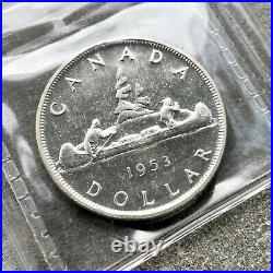 1953 Canada 1 Dollar Silver Coin One Dollar Proof Like ICCS Gem PL 65 Old Holder
