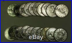 1960 Roll of Canadian Dollar Coins BU Brilliant Uncirculated 80% Silver 20 Total