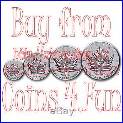 1967-2017 Canada Maple Leaf Tribut Pure Silver Fractional 4-Coin Set
