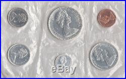 1967 Canada Sealed Proof Like Mint Set 6 Coins Total 4 Silver Coins 80% 0.800