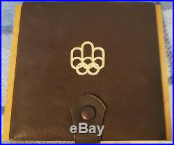 1976 CANADA Montreal Olympics SILVER 4-Coin PROOF Set Wood Case & COA SERIES#1