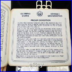 1976 Canada Montreal Olympics 4 Silver Coin Set Series 1 Box and COA 4.32oz TW