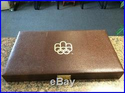 1976 Canadian Olympic Silver Coin Set Montreal 28 Silver Pieces withCase