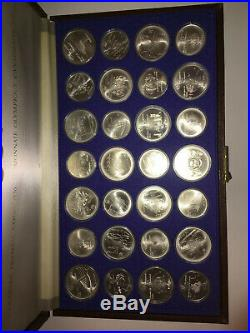 1976 Silver Canadian Olympic Games (Set-28 Coin)/ Monnaie olympique 1976