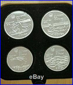 1976 Silver Canadian Olympics 4 Coin Proof Set Series 5 Water Sports #721G