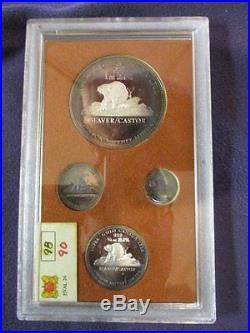 1981 Inter-gold Ltee 6pc Beaver / Castor Johnson Matthey. 999 Silver Coin Set