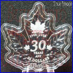 1988-2018 30th Anniversary of SML $20 Pure Silver Maple Leaf-Shaped Coin Canada