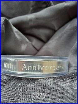 1998 Canada 10 oz $50 10th Anniv Silver Maple Leaf Coin. 9999 Pure in Capsule