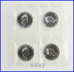 1999 $5 Canada Silver Maple Leaf Coin 1 OZ 9999 Fine Silver Lot 4 Elizabeth II