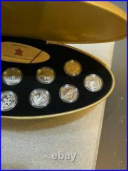 1999 Canada Millennium. 925 Silver Quarter 12-Proof Coin Set in Original Case