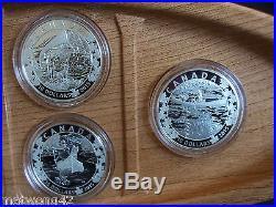 1/2 oz. Fine Silver 6-Coin Subscription FULL Set Canoe Across Canada 2015