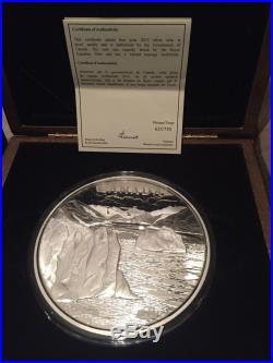 1 Kilo Fine Silver Coin Canadas Arctic Landscape Mintage 750 (2013)