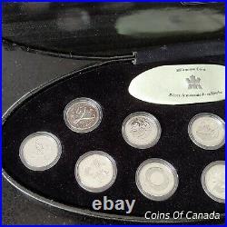 2000 Canada Millennium Sterling Silver 25 Cents Quarter Coin Set #coinsofcanada