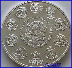 2002 1 Onza Mexico Libertad 1 Oz. 999 Gold Gilded Series Silver Coin