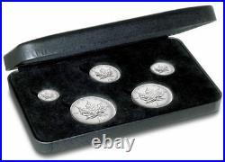 2004 Privy Mark Canadian Silver Maple Leaf Fraction Coin Set