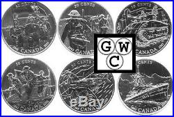 2005 50-Cent Sterling Silver Six-Coin Set 60th Anniversary End of WWII (11566)