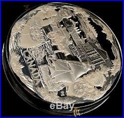 2008 Confederation Canada Kilo. 9999 Fine Silver Coin $250 With Beautiful Ship