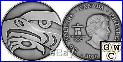 2010 Kilo Silver Coin (Olympics) The Eagle. 9999 Fine ANTIQUE No Tax (12600)