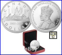 2010 Proof Silver $1'75th Anniversary of the First Canadian Dollar Coin'(12693)