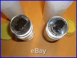 2010 Silver Canadian Maple Leafs BU- 2 Tubes of 25 (50 1oz Silver coins)