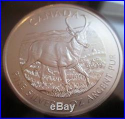 2011-2013 Wolf Grizzly Cougar Moose Bison Antelope Canada 1 oz 9999 Silver Coins